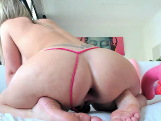 Huge pink toys for my asshole