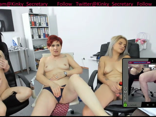 Three Secretaries have fun together after work done