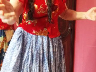 Look under the gypsy skirt