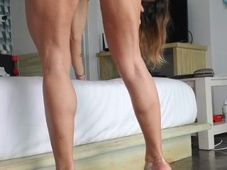 walking naked in high heels and sucking toes
