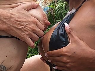 oiling the neighbours boobs and ass by the pool ( with jenna_wicked)