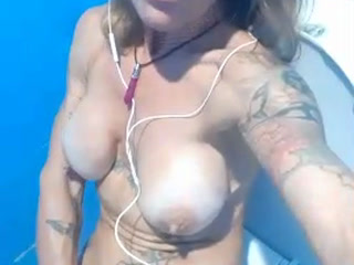 Playing with my pussy In the loo at football practice