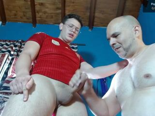 love when daddy jerk off my dick, until i cum, is the best feel