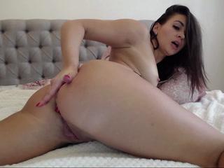 anal tease with dildo
