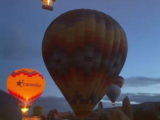 Flight on hot air balloon in Cappadocia