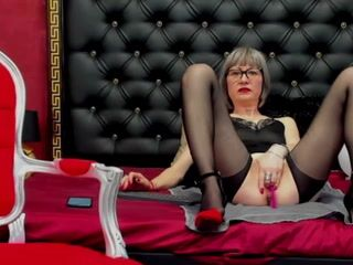 sexy black stockings pussy play