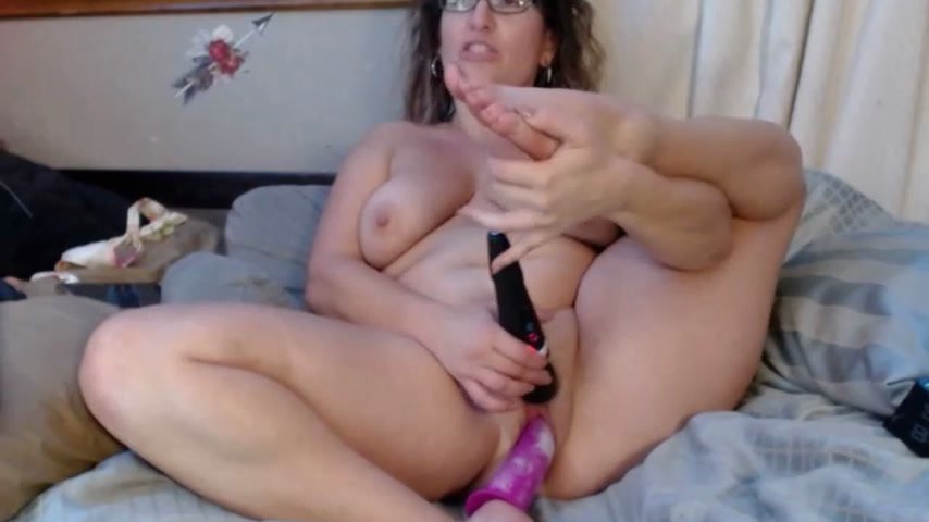Dildo pussy and FEET teaser. Orgasm.