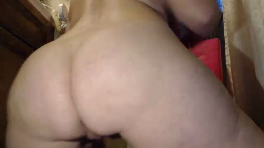 Doggystyle fucking my tight pussy with dildo teaser